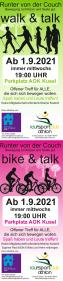 bike & talk, walk & talk